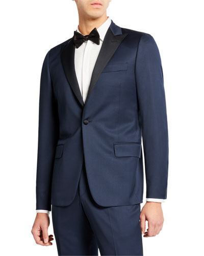 Men's Peak-Lapel Two-Piece Tuxedo Suit