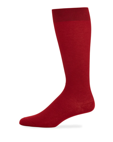 Dolce & Gabbana Men's Basic Socks, Red