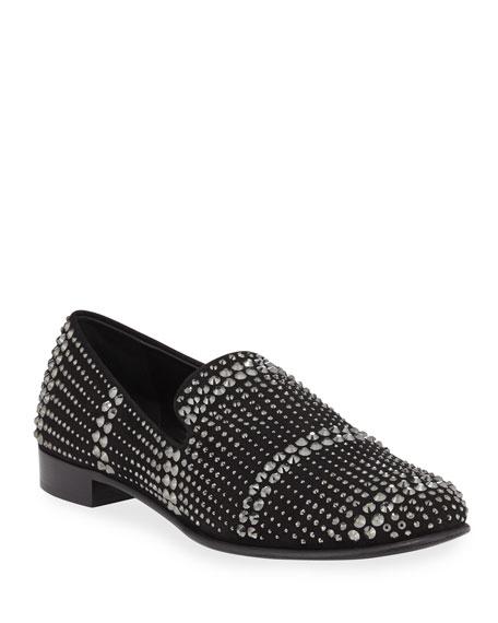 Giuseppe Zanotti Crystal Evening Slip On Shoe