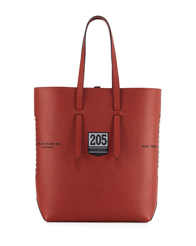 Men's The Catch Football Leather Tote Bag