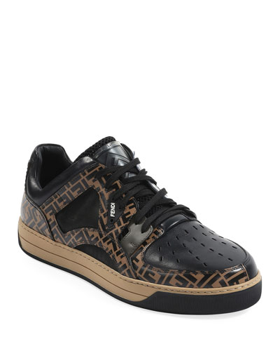 ff55066dd0b Quick Look. Fendi · Men s Fancy Logo Low-Top Leather Sneakers. Available in  Black