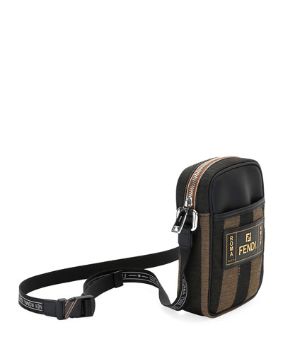 Men's Pequin Striped Canvas Crossbody Camera Bag