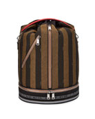 Fendi Men's Pequin Stripe Drawstring Carryall Bag
