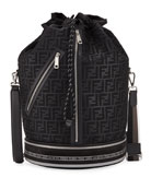 Fendi Men's FF Mesh Drawstring Carryall Bag
