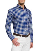 Peter Millar Men's Crown Check Sport Shirt