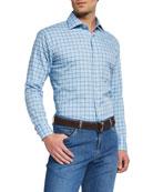 Peter Millar Men's Crown Check Sport Shirt