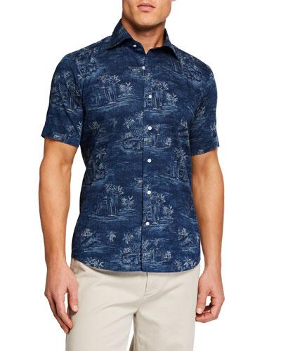 Men's Vintage Coast Short Sleeve Woven Shirt