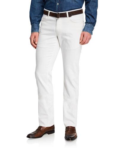 Men's Salt-Wash Denim Straight-Leg Jeans