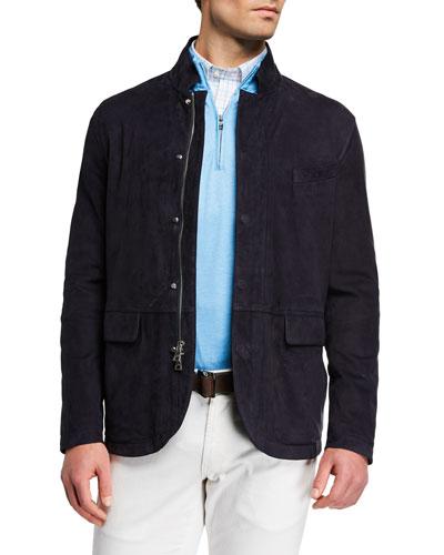 Men's Spring Tempest Nubuck Leather Jacket