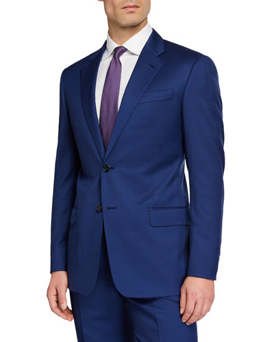 Men's G Line Super 130s Wool Micro-Neat Two-Piece Suit