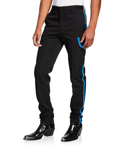 Men's Wool Scuba Pants w/ Contrast Trim
