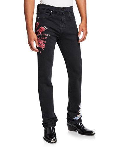 Men's Tie-Dye Denim Jeans