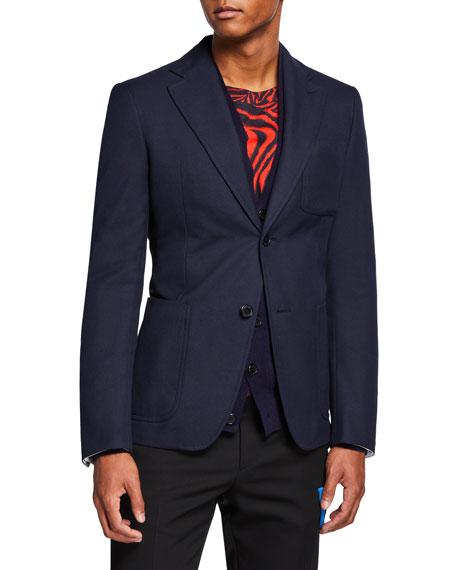 CALVIN KLEIN 205W39NYC Men's Solid Schoolboy Blazer