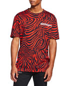 CALVIN KLEIN 205W39NYC Men's Zebra T-Shirt