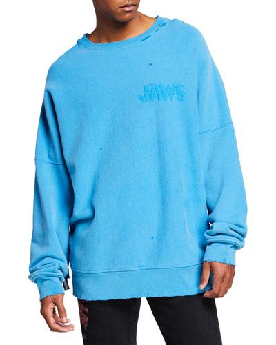 Men's Oversized Jaws Sweatshirt