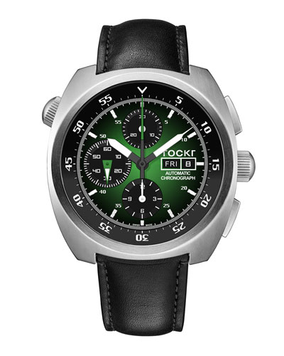 Men's 45mm Air Defender Chronograph Watch, Green/Black