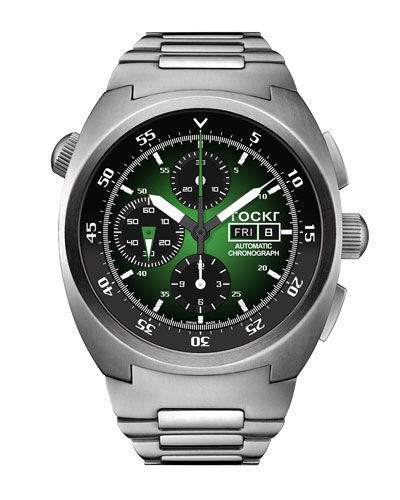Men's 45mm Air Defender Chronograph Stainless Steel Watch