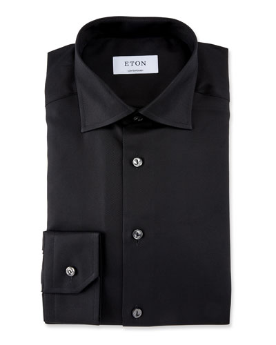 Men's Contemporary Fit Convertible Twill Dress Shirt