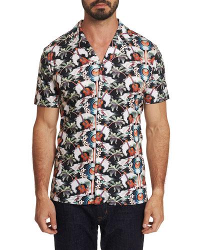 Men's Short Sleeve Guitar Camp Shirt