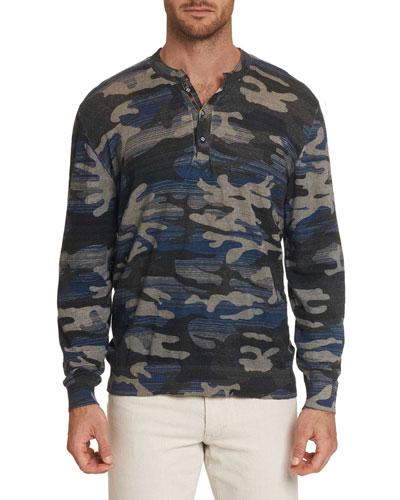 Men's Jaxen Long-Sleeve Henley T-Shirt