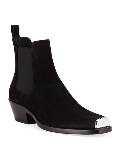 Men's Chris Western Suede Boots