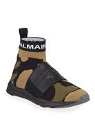 Balmain Men's Cameron Running Sock Sneakers