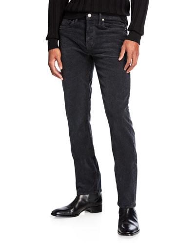 Men's Slim Fit Cord Denim Jeans