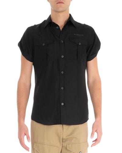 Men's S19 Silk Military Sheer Shirt