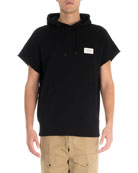 Givenchy Men's S19 Short-Sleeve Logo Sweat Hoodie
