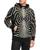 Givenchy Men's Mirrored Daisy Pullover Hoodie