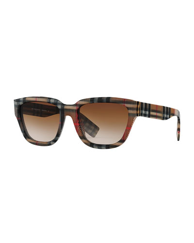 02c23e8c8639 Quick Look. Burberry · Men s Mammoth Signature-Check Square Sunglasses.  Available in Brown Pattern