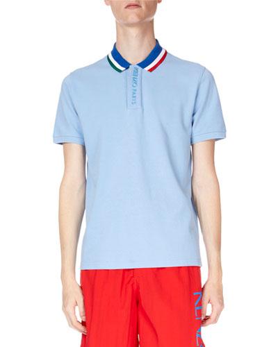 Men's Sky Placket Embroidery Polo Shirt