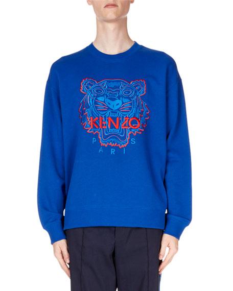 Kenzo Men's Bicolor Tiger Sweatshirt