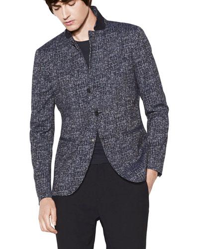 Men's Notch-Lapel Slim-Fit Soft Jacket