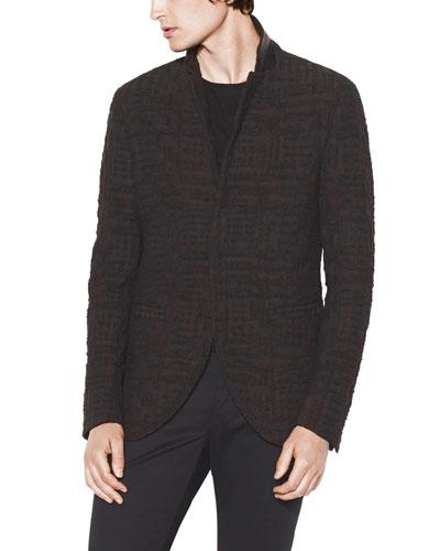 Men's Slim-Fit Hook-Front Jacket