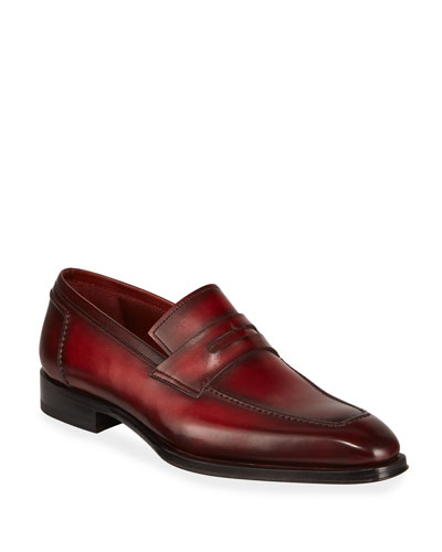 Men's Bol Wind Leather Penny Loafers