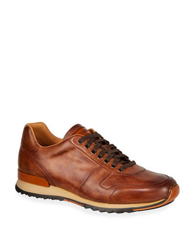 Men's Soft Bultaco Leather Lace-Up Oxford Sneakers