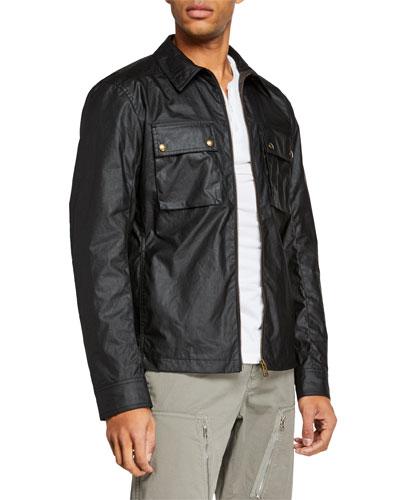 Men's Dunstall Waxed-Cotton Shirt Jacket