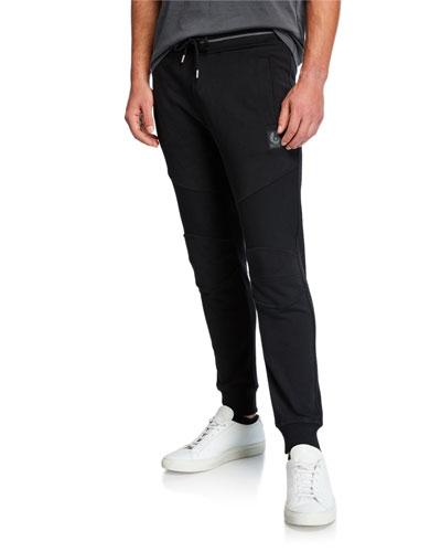 Men's Moto Tapered-Leg Sweatpants