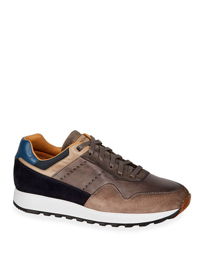 Men's Varenna Leather/Suede Lace-Up Sneakers