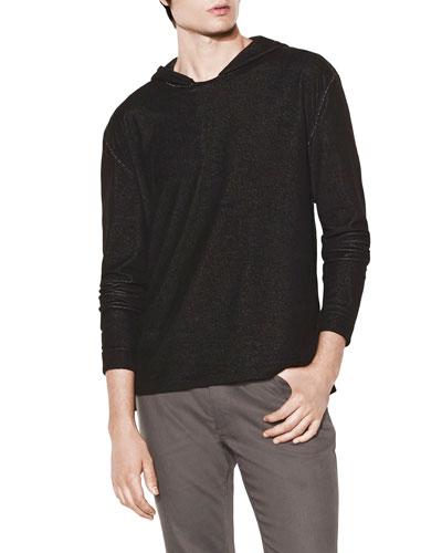 Men's Mercerized Linen Pullover Hoodie