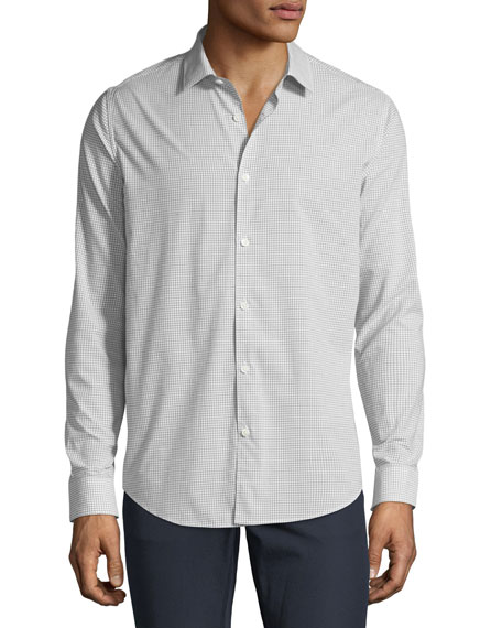 Theory Men's Murrary Grid Poplin Sport Shirt