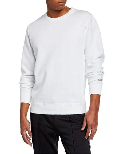 Men's Dune Distressed Long-Sleeve Sweatshirt