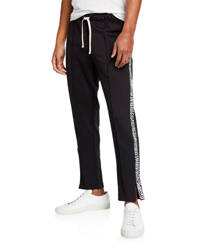 Men's Zebra Stripe Track Pants