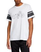 Ovadia & Sons Men's Short-Sleeve Moto Print T-Shirt