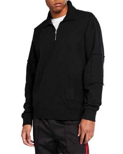 Men's Half-Zip Patch Crew Shirt