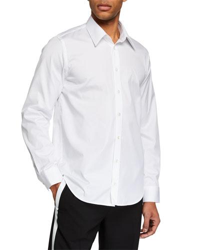 Men's Logo-Back Cotton Sport Shirt