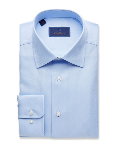 Men's Regular-Fit Royal Oxford Dress Shirt, Sky
