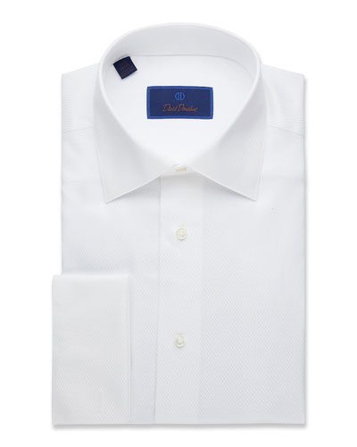Men's Regular-Fit Mini-Box Formal Dress Shirt