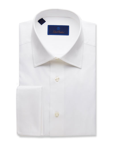 Men's Regular-Fit Micro-Birdseye Dress Shirt with French Cuffs